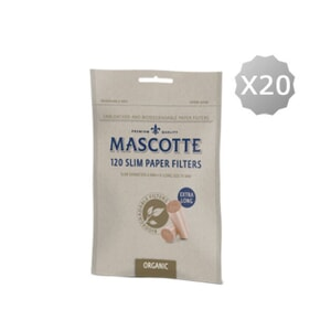 Cigarette Filtertips Mascotte Slim Filters Unbleached